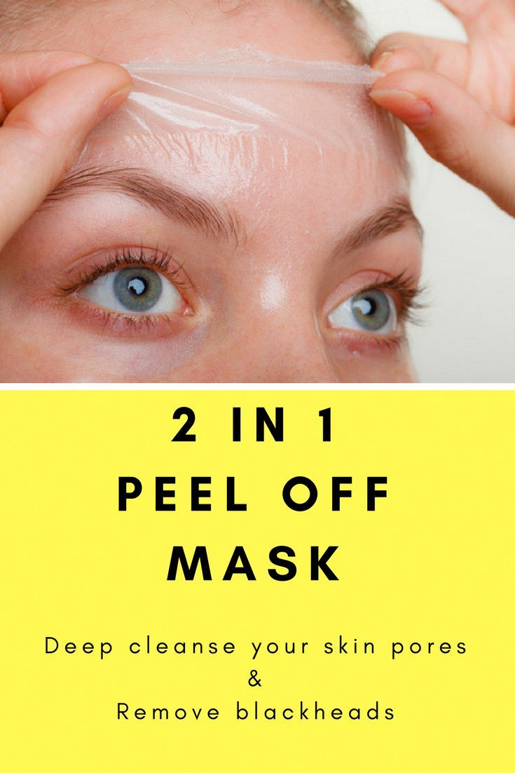 2 in 1 Peel off mask to deep clean pores and remove blackheads