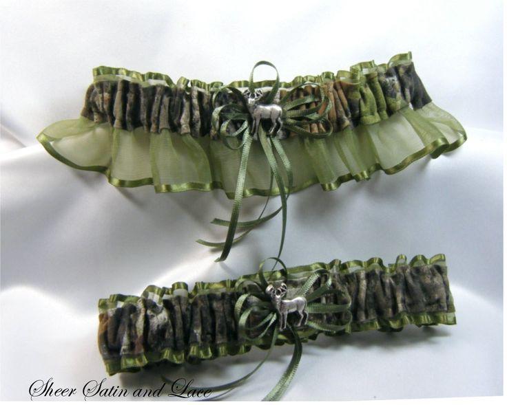 Camo Wedding Cakes Mossy Oak | MOSSY OAK CAMOUFLAGE wedding garters DEER CAMO garter MOSS