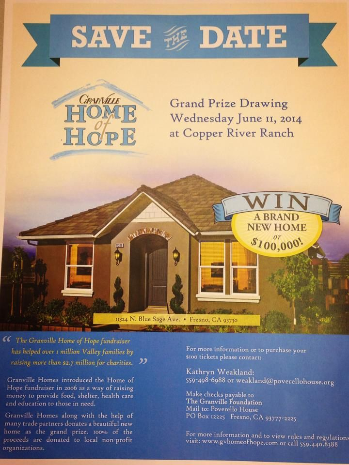 good granville home of hope #5: Purchase your tickets through Poverello House and of those proceeds comes  straight to our Clients in need.