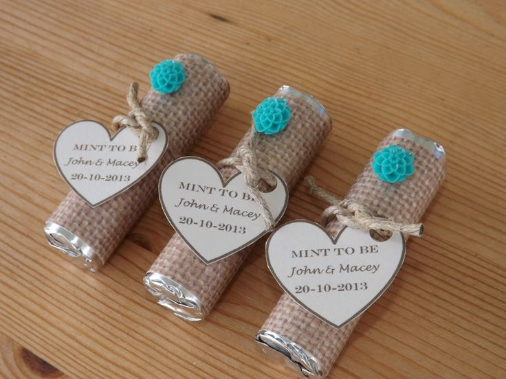 Mint To Be Favors Wedding Bridal Shower Personalized