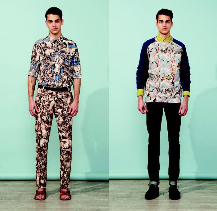 Paul & Joe 2014 Spring Summer Mens Presentation - Masculine Printemps Été 2014 Homme France: Designer Denim Jeans Fashion: Season Collections, Runways, Lookbooks and Linesheets