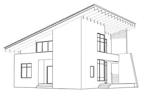Architectural House Drawing Interesting Simple Architecture Design Designs Perspective Drawing Perspective Drawing Architecture House Outline
