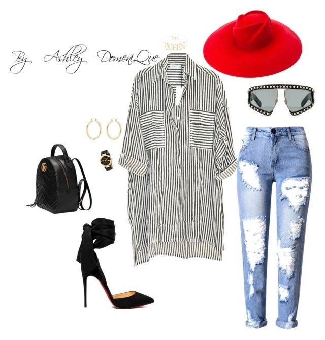 """""""Movie night"""" by ashleydomenique on Polyvore featuring Faithfull, Christian Louboutin, Gucci and Isabel Marant"""