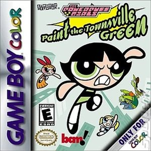 Powerpuff Girls Paint The Townville Green - Game Boy Color Game
