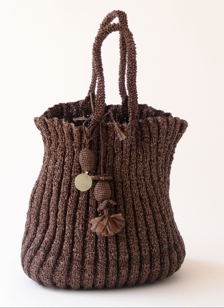 1000+ ideas about Hand Knit Bag on Pinterest Knitted Bags, Coin Purses and ...