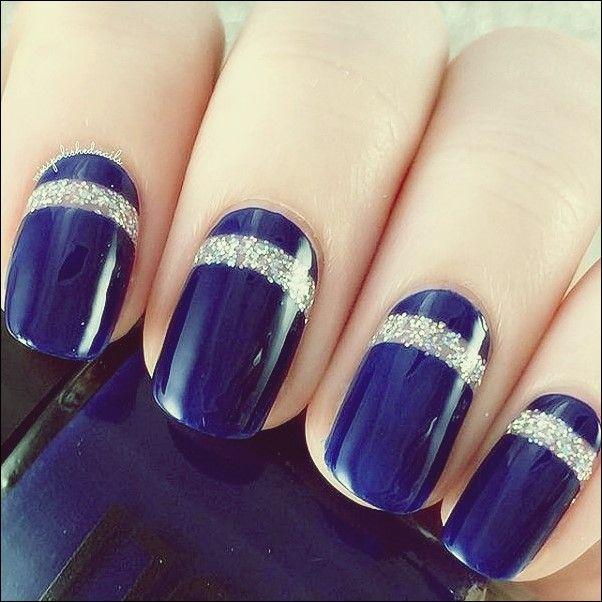 50 blaue Nagel-Kunst-Designs