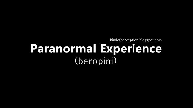 Kind of Perception: Paranormal Experience (beropini)