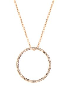 Necklaces - Yellow Gold Diamond: 9kt Rose Gold Circle Of Life Necklace!
