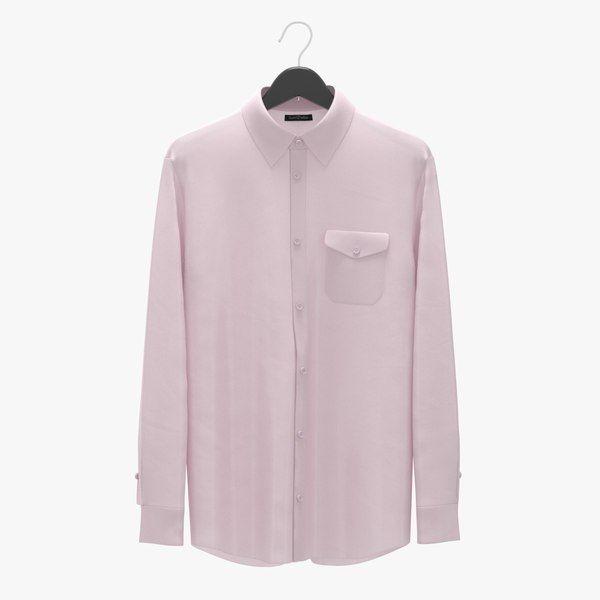 Max Realistic Man Shirt Pink - 3D Model