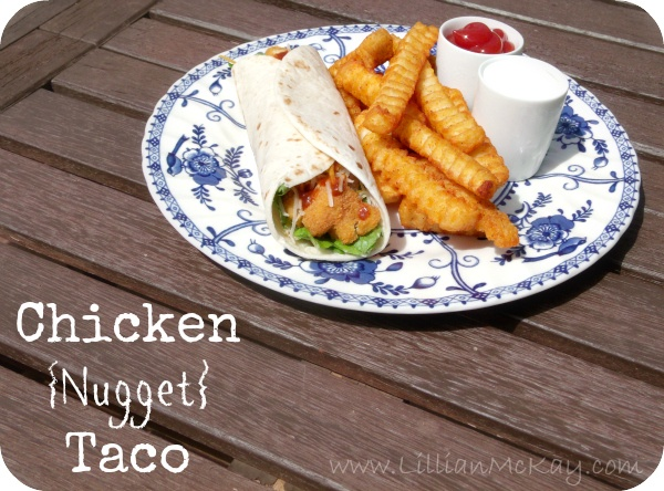 Chicken Nugget Tacos {Kid Friendly Meal}