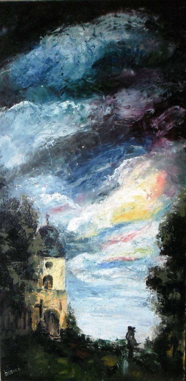 Art  Oil Painting  Original Painting by Ildikó by kezulegsajat