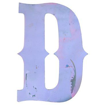 Check out this item at One Kings Lane! Lavender Metal Marquee Letter D