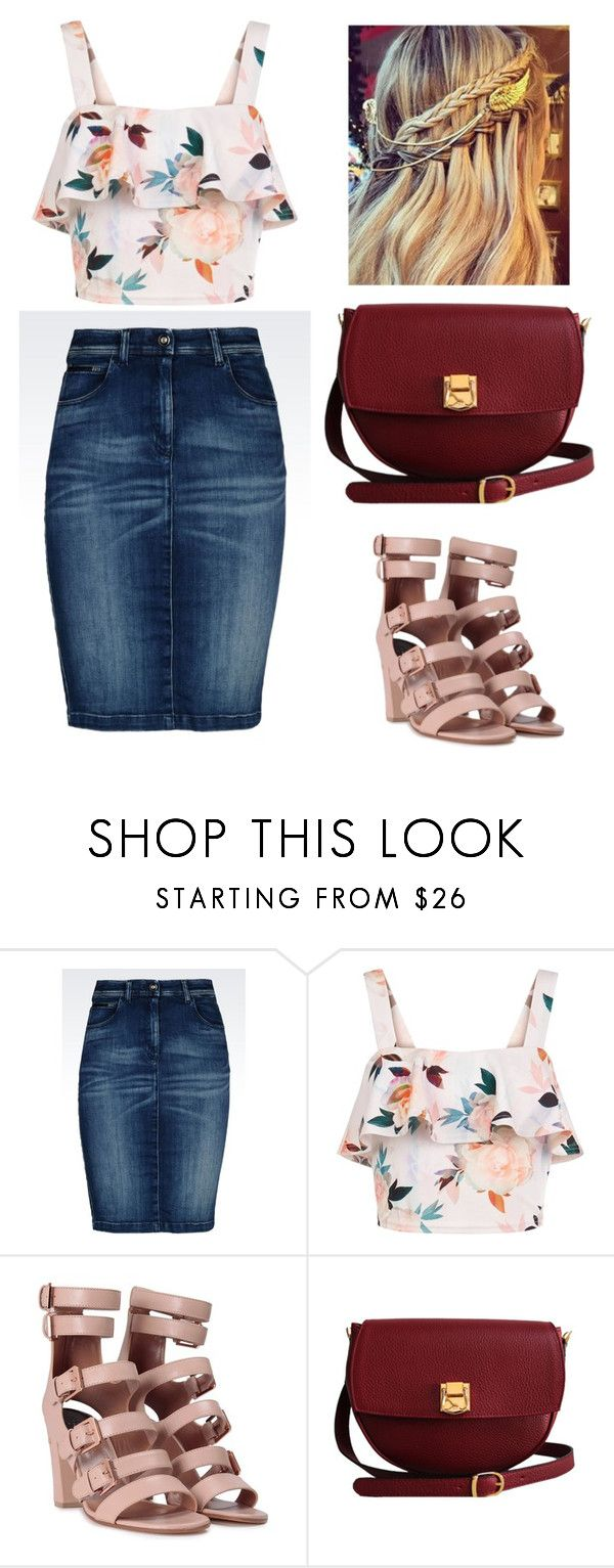 Día de campo!!! #picnic #denim #flowers by ross-isol on Polyvore featuring moda…