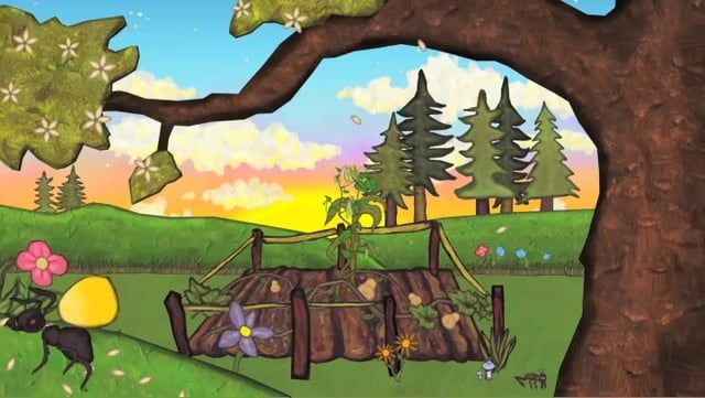 'Skatne Ronatehiarontie: They Grow Together' is an animated re-telling of a traditional Mohawk story, told in the Mohawk language.  Produced by: Rainbowstinks and Husking House Productions.