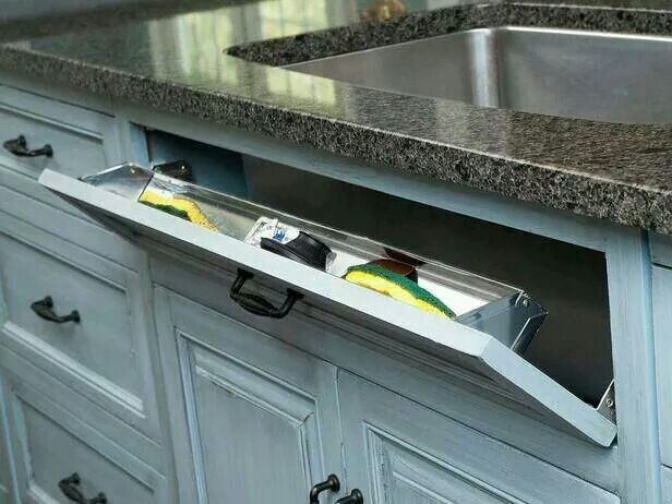 This is a better way to store your scrubbers without it cluttering your sink.