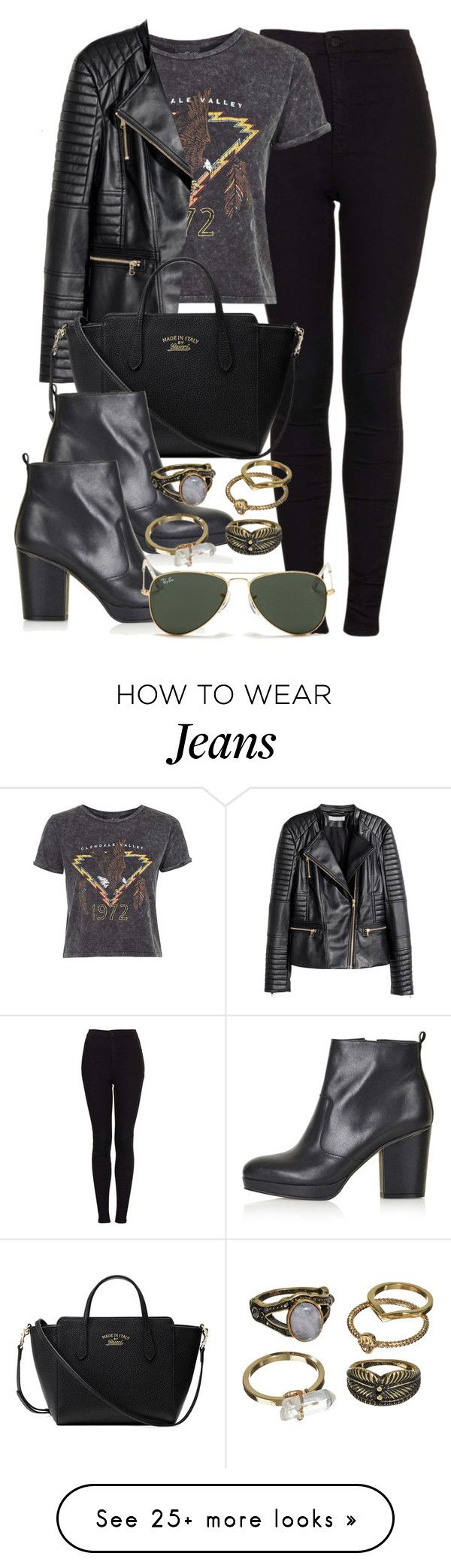 """Style #9765"" by vany-alvarado on Polyvore featuring Topshop, H&M, Gucci, Ray-Ban, Mudd, women's clothing, women, female, woman and misses"