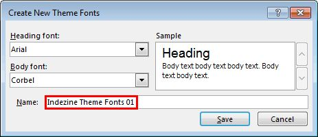 Create Your Own Theme Fonts Set in #PowerPoint 2013 for Windows