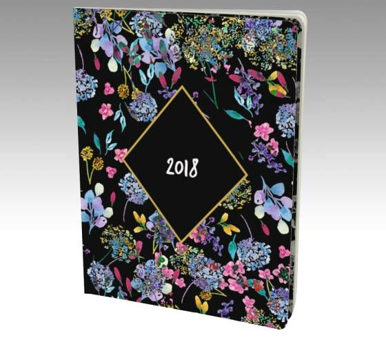 2018 Journal Diary - hand painted, watercolor journal cover with acid free paper.  Your choice of blank, lined, bullet, or graph paper inside.   #2018 Notebook, #2018 Diary, #Watercolor Floral Journal, #2018 Planner, #Journal for 2018, #Floral Planner, #Unlined notebook