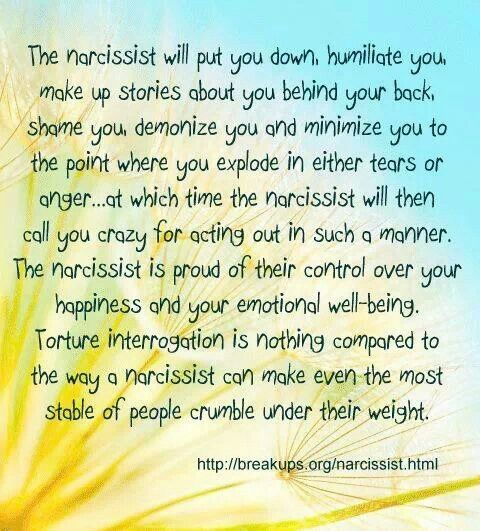 Living with narcissistic personality disorder husband
