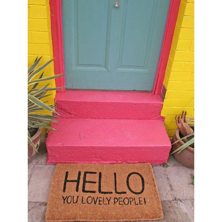 Hello You Lovely People Doormat