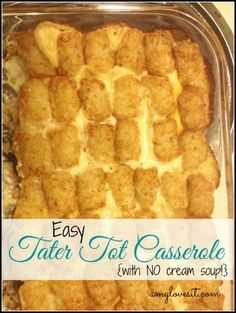 Tater Tot Casserole {with NO cream soup!} | Tater tot ...