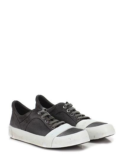 MOMA - Sneakers - Uomo - Sneaker in pelle lavorata effetto vintage con suola in gomma light vintage. Tacco 40. - ANTRACITE - € 265.00