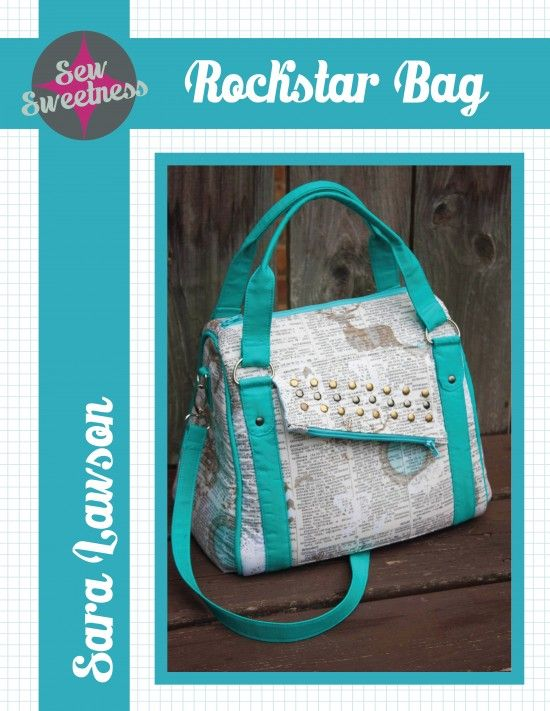 Today, I'm ecstatic to present you to a new pattern, The Rockstar Bag! This is a good-sized...