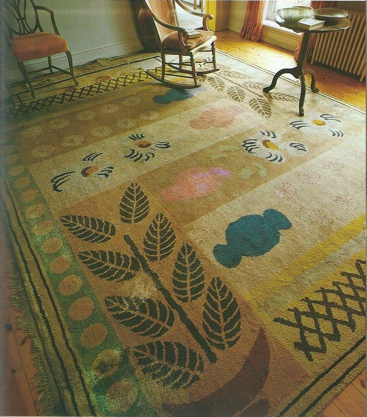 'Vases' carpet, designed by Duncan Grant for Virginia Woolf.