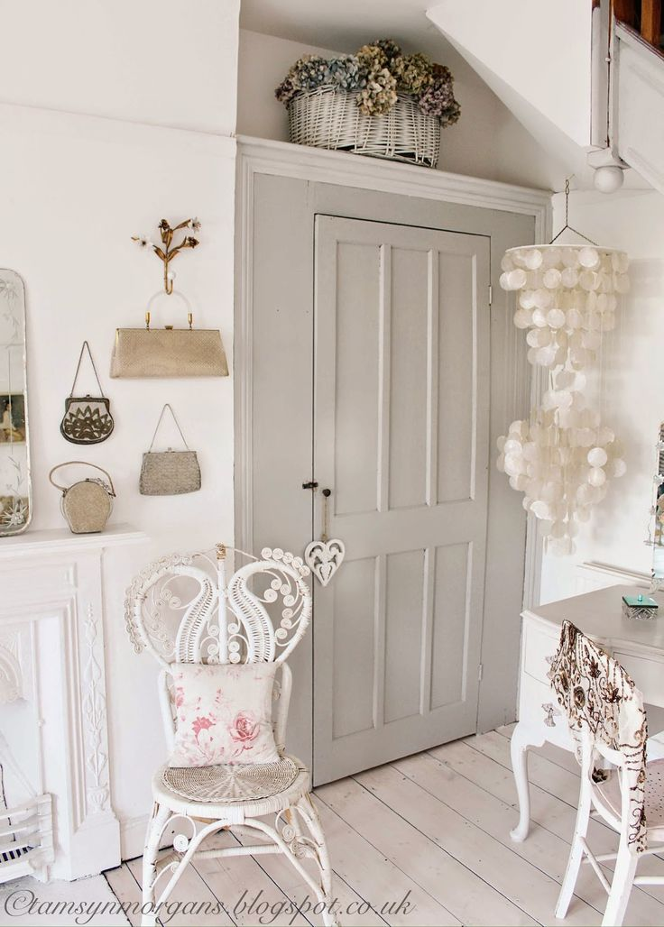Lovely painted wardrobe.