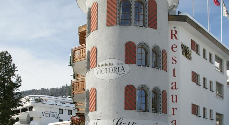 Turmhotel Victoria Davos Dorf The Turmhotel Victoria in Davos is 200 metres from the Parsenn Cable Car and just steps away from Davos Dorf Train Station. It includes a spa area and 3 restaurants.  Restaurant La Terrasse serves regional cuisine.