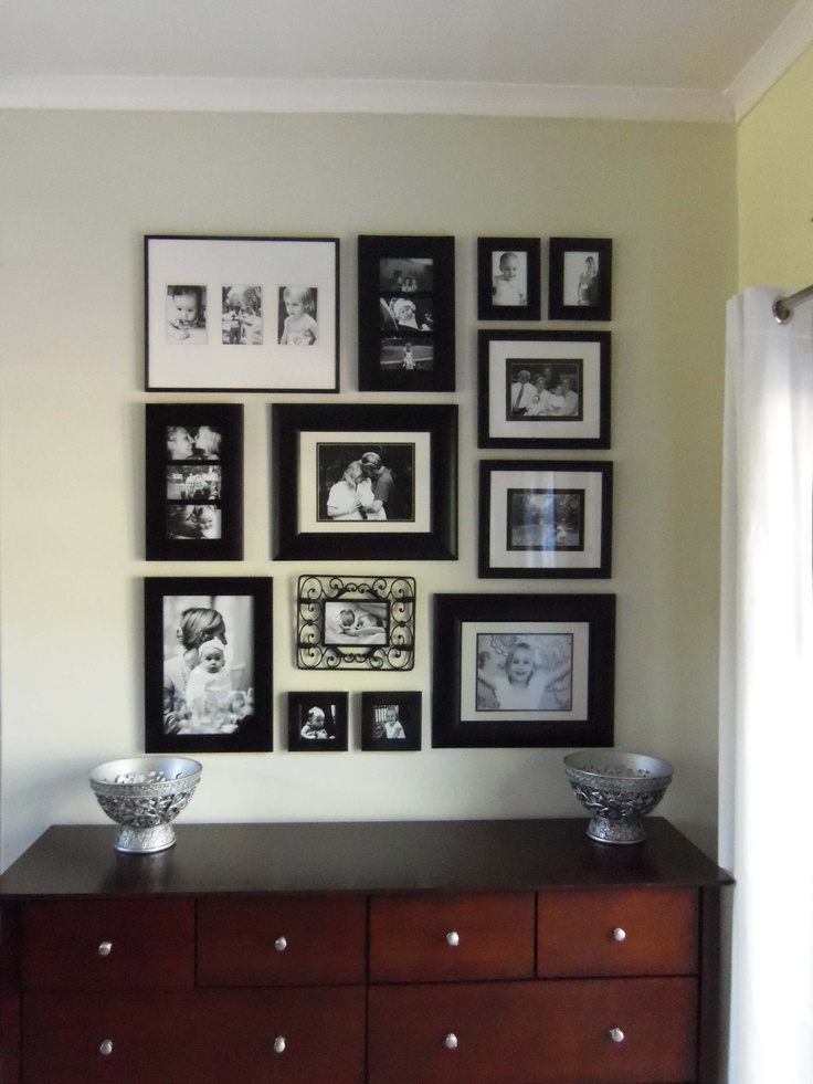 Black and White family photo wall