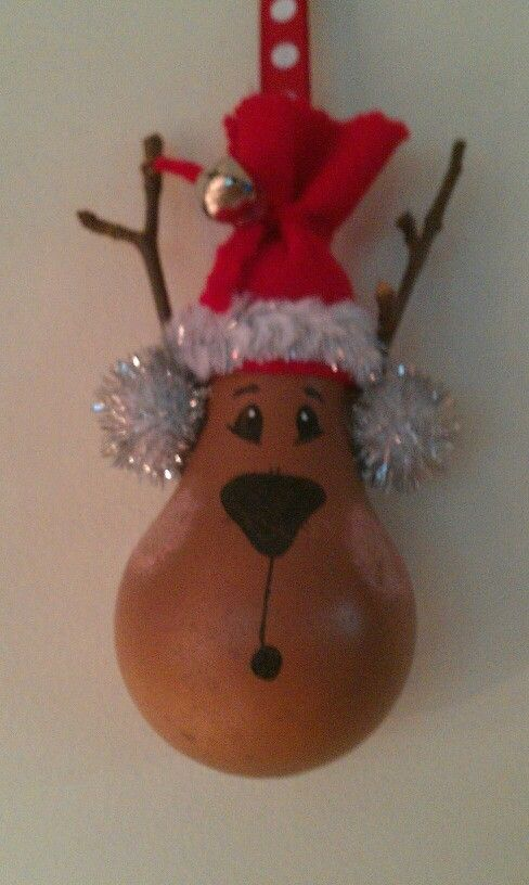 Reindeer lightbulb ornament