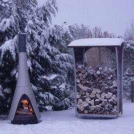 Harrie Leenders Wood Stocker and Exterior Pharos stove.