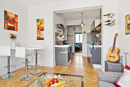 Vivir sólo en un piso de 44 m²