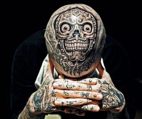 Considering a head tattoo? Not after you checked out these Weird Baldhead Tattoos