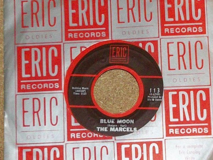 The Marcels Blue Moon b/w Goodbye To Love Vinyl 45 rpm Doo Wop Record by RASVINYL on Etsy