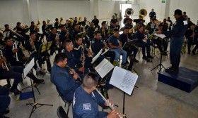 Banda de música de la policía estatal, lista paraparticipar en la Guelaguetza 2016