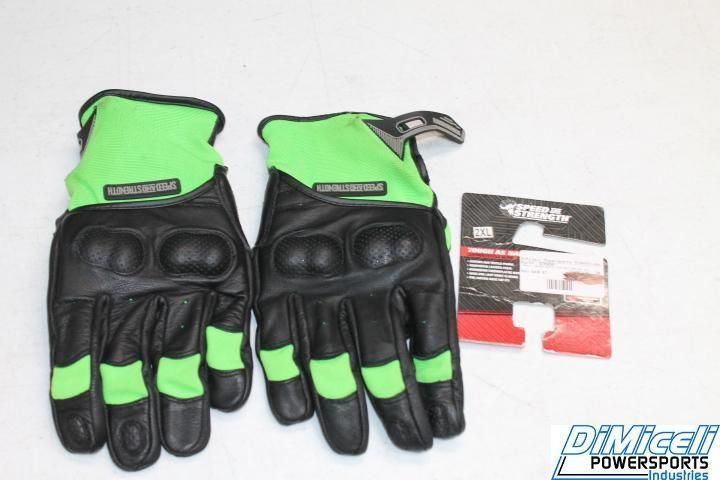NEW SPEED AND STRENGHT SIZE 2XL MOTORCYCLE STREET SPORT LEATHER GLOVES TOUGH