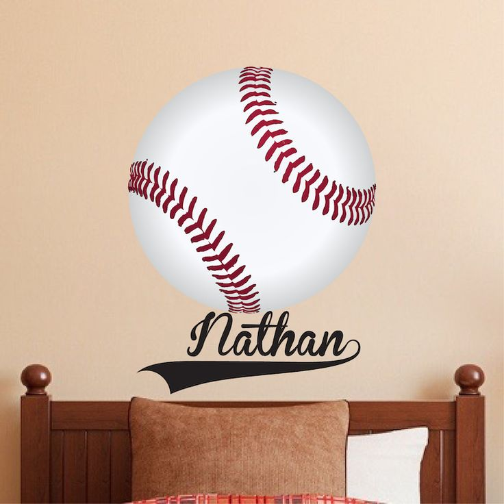 Superieur Large Baseball Wallpaper Decal   Boys Baseball Wall Sticker   Baseball  Monogram   Baseball Wall Graphic