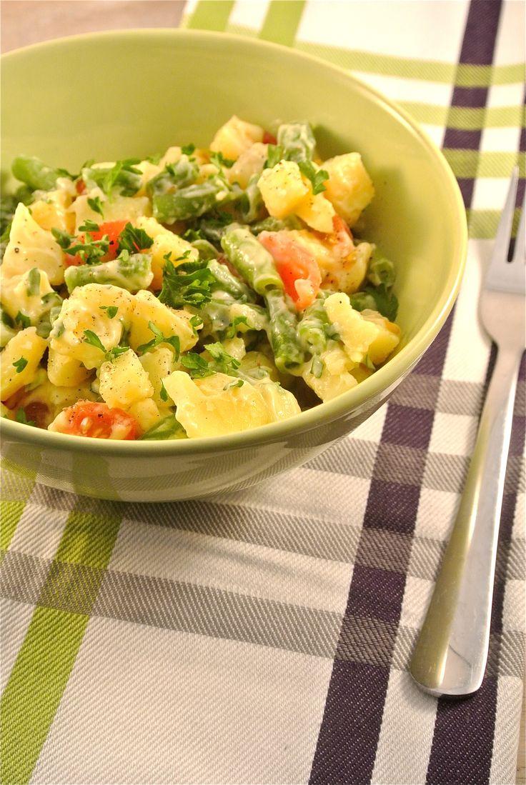 aardappelsalade met sperziebonen