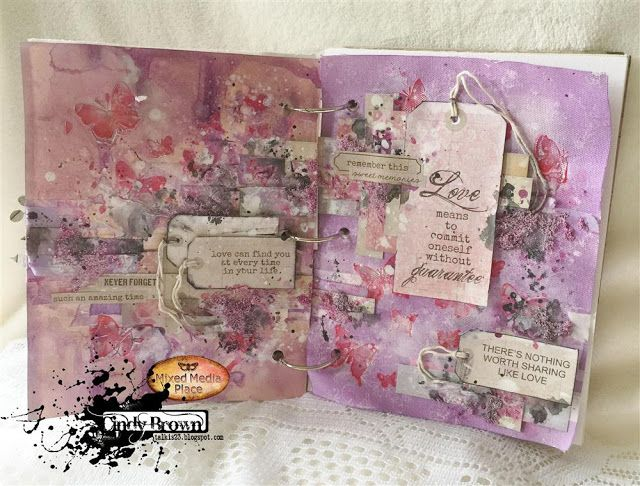 Art journal spread by Cindy