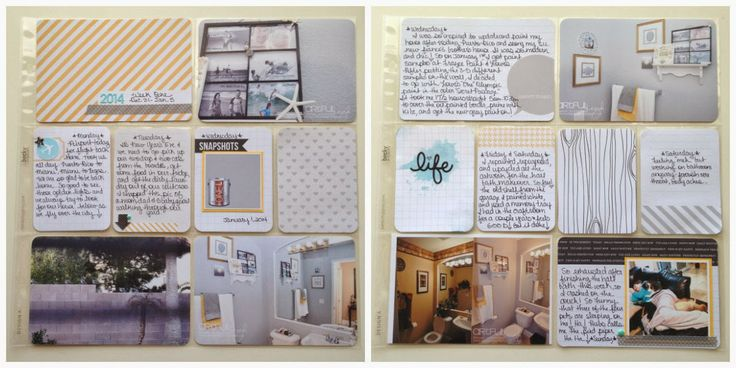 Artful Leigh: 2014 Project Life: Week one and two