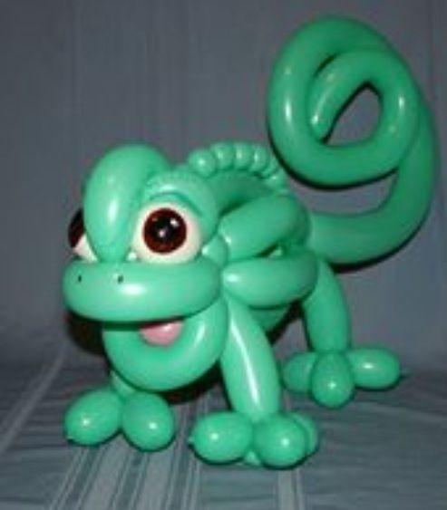 Balloon art lizard