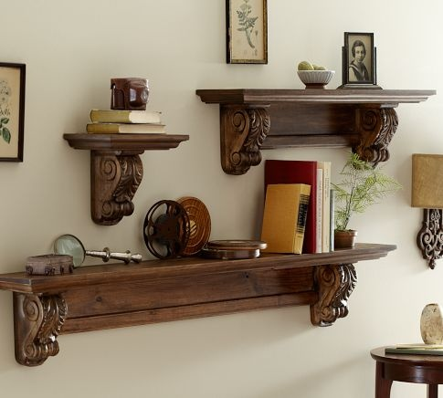 *Easy to IMitate*:)  Architectural Shelf              With molded edges and carved acanthus leaf supports, our shelf strikes a neoclassical note while providing space for storage and display.