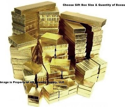 Jewelry Boxes 3820: Gold Cotton Filled Gift Box Jewelry Craft Collectibles Packaging Boxes Wholesale -> BUY IT NOW ONLY: $59.99 on eBay!