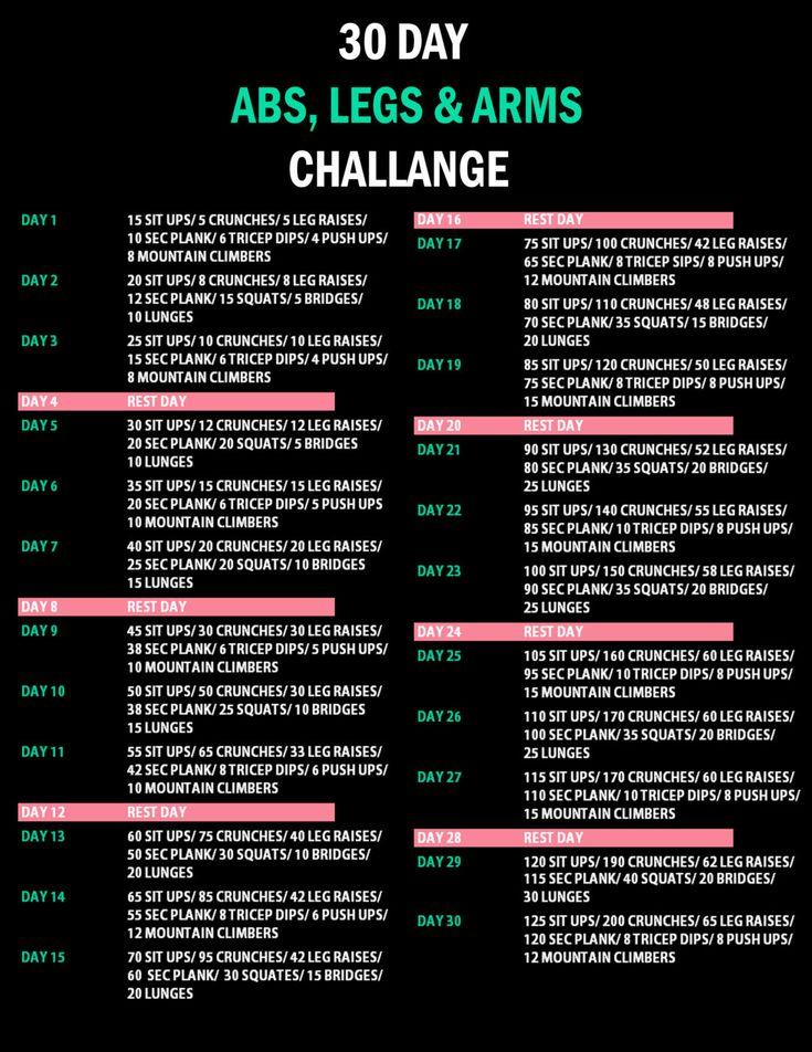 30 days challenge: sfide a colpi di squat e addominali da fare in casa