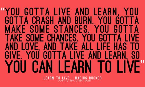 darius rucker - learn to live lyrics