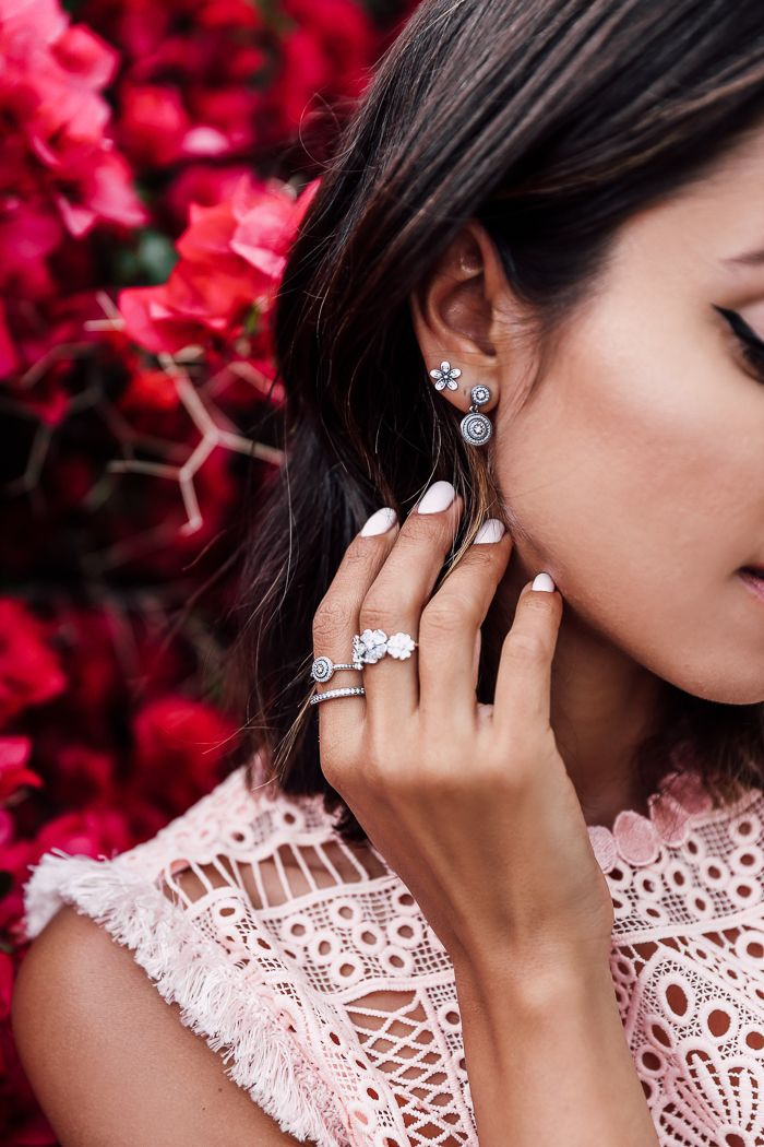 VivaLuxury - Fashion Blog by Annabelle Fleur: A STEP INTO SPRING - PANDORA The Spring Collection jewelry   ALEXIS Sage crochet fit-and-flare dress   REBECCA MINKOFF Georgina studded sandals   STRATHBERRY OF SCOTLAND Mc Nano powder blue bag March 28, 2016
