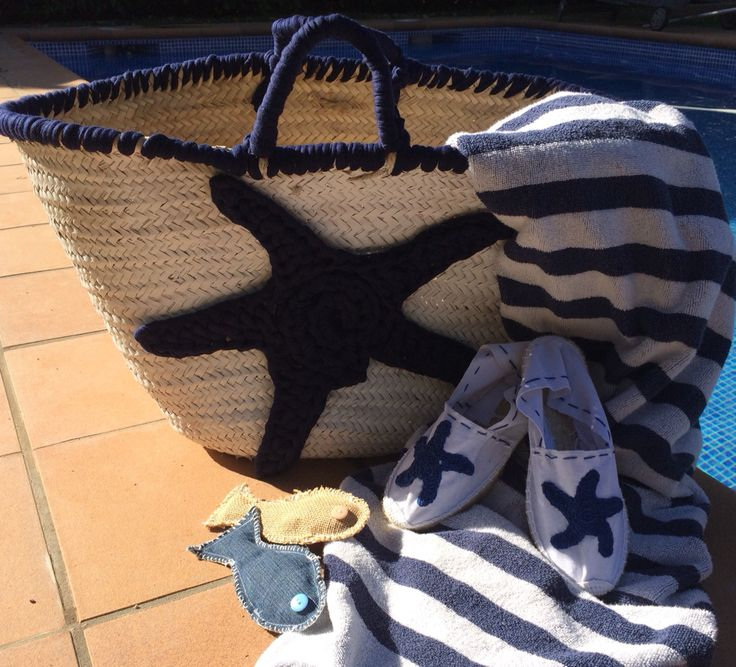 Cistell i espardenyes per anar a la platja