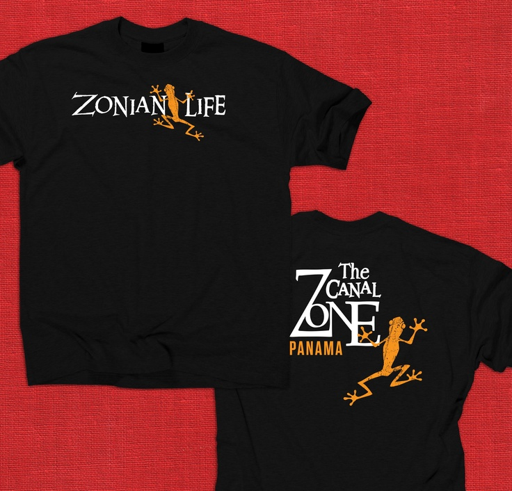 """Zonian Life Frog Tee // SKU No. LOLPCZ-003 // COMING SOON!! If you have interest in this shirt visit us on Facebook and let us know that you want the """"Panama Presale"""" https://www.facebook.com/ZonianLife"""